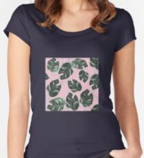 Summer Leaves Women's Fitted Scoop T-Shirt