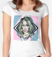 DEVO MONIQUE - DIAMOND - BOLD QUEENS Women's Fitted Scoop T-Shirt