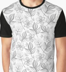 Floral Drawing  Graphic T-Shirt