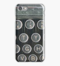 Vintage keyboard iPhone Case/Skin