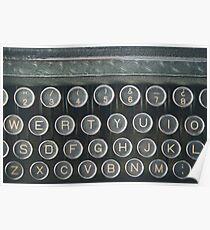 Vintage keyboard Poster