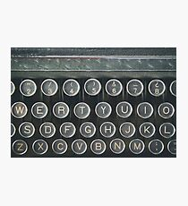 Vintage keyboard Photographic Print