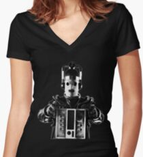 Doctor Who - Mondasian Cyberman Women's Fitted V-Neck T-Shirt