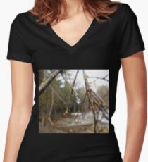 Droplet Women's Fitted V-Neck T-Shirt