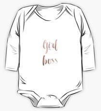 Girl Boss - Roségold Baby Body Langarm