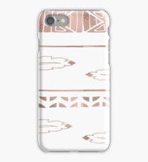 Rose gold feather boho iPhone Case/Skin