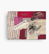 "Original Collage - ""Red Car"" Canvas Print"