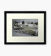Yellowstone in Winter Framed Print