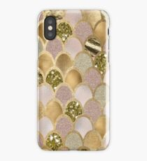 Rose gold mermaid scales iPhone Case/Skin