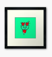 Love at first sight? Framed Print