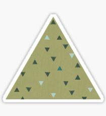 DOWN UP / olive green / seaweed / turquoise / aqua mint Sticker
