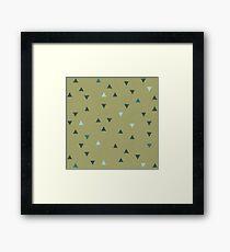 DOWN UP / olive green / seaweed / turquoise / aqua mint Framed Print