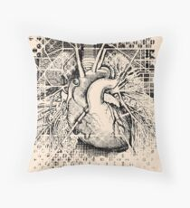 Map of the Heart Throw Pillow