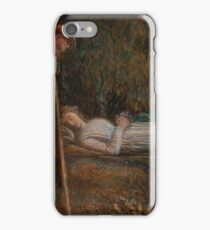 Imogen and the Shepherds, from Cymbeline, Act IV, scene II by James Smetham, circa 1874 iPhone Case/Skin