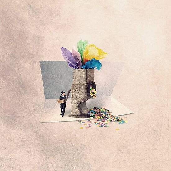 The confetti maker by Yann Pendaries