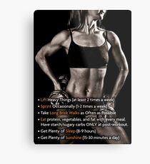 How To Be Fit - Infographic Metal Print