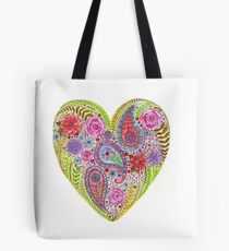 Heart Filled with Flowers Tote Bag