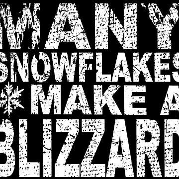Many Snowflakes Make a Blizzard by goddardcartoons
