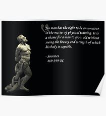 Strength And Beauty - Socrates Poster
