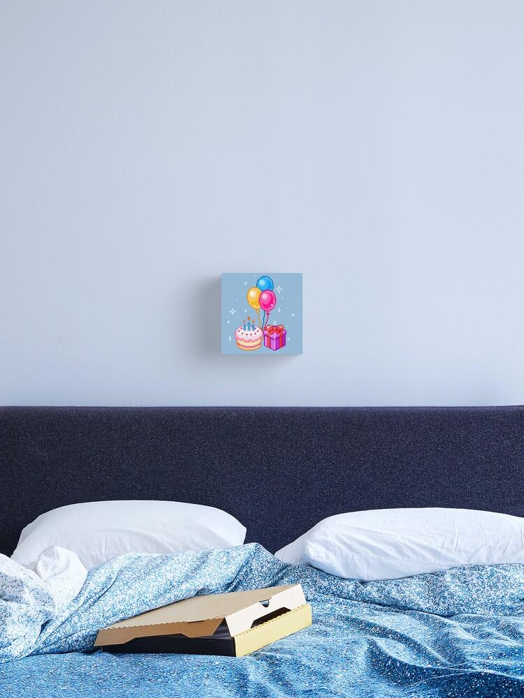 Pixel Art Joyeux Anniversaire Impression Sur Toile