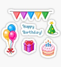 Pixel Art - Happy Birthday Sticker