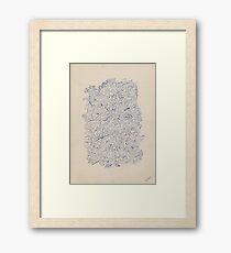 0404 - Harmonie in Blue Framed Print
