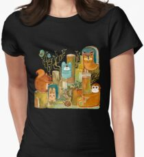 Animals in the Wood Womens Fitted T-Shirt