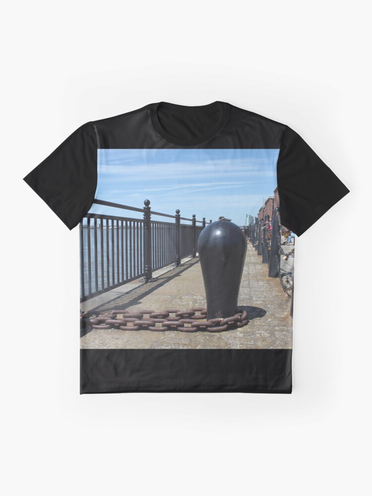 Alternate view of Old Boat Chain Next To The River Mersey, Liverpool, Merseyside Graphic T-Shirt