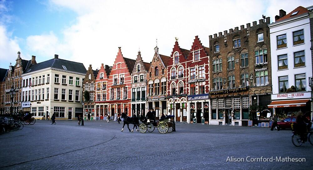 Bruges Grote Markt by Alison Cornford-Matheson