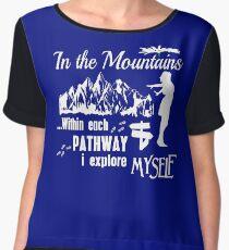 I love mountain paths! Chiffon Top