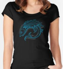 Riddle Fish Women's Fitted Scoop T-Shirt