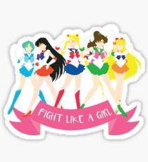 Fight Like a Girl: Sailor Senshi Sticker