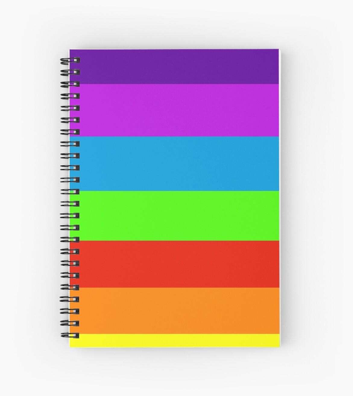 Cuadernos de espiral «Neon fluorescente 7 colores del arco iris» de ...