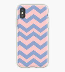 Pantone Colour of the Year 2016  Rose Quartz/ Serenity Chevron iPhone Case