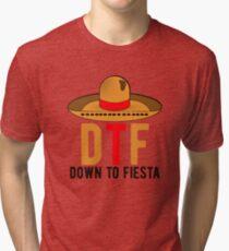 Down To Fiesta! Cinco De Mayo Drinking Party  Tri-blend T-Shirt