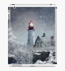 Portland Head Lighthouse with Snow Maine iPad Case/Skin