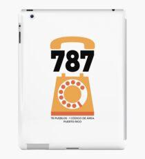 787 Código de Área  iPad Case/Skin