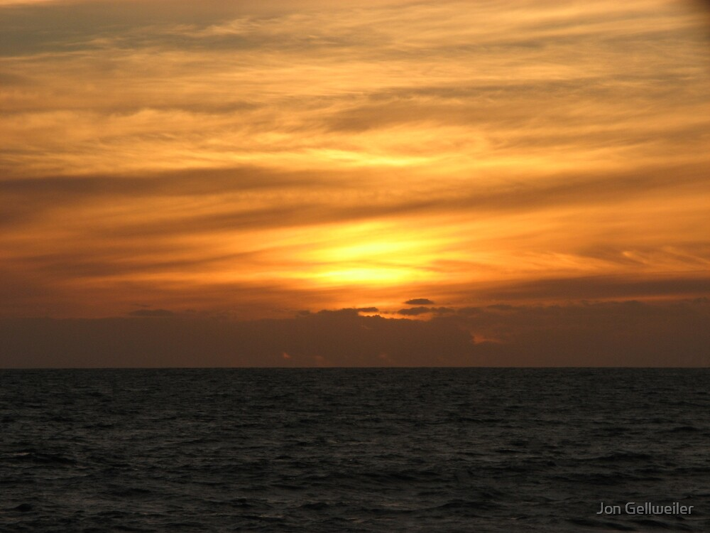 Brushstroke sunset by Jon Gellweiler