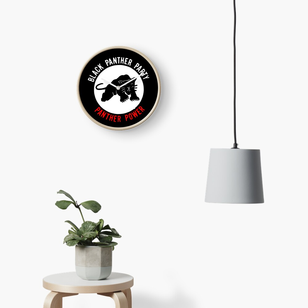 THE BLACK PANTHER PARTY Clock
