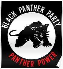 THE BLACK PANTHER PARTY Poster