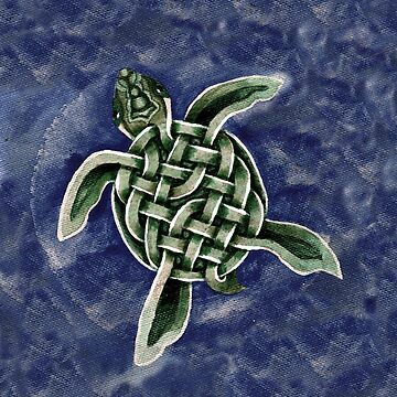 Celtic Turtle Painting by IceFaerie