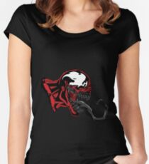 Ultimate Carnage Black art Women's Fitted Scoop T-Shirt