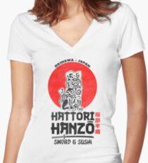 Hattori Hanzo Tailliertes T-Shirt mit V-Ausschnitt
