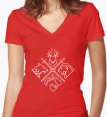 Game of Thrones Houses Women's Fitted V-Neck T-Shirt