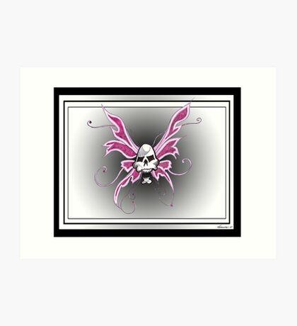 skull fairy Art Print