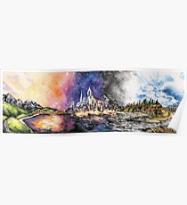 Lucid Cartography Watercolour Painting (Cityscape) Poster