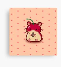 Cherry Hamster with Sunflowerseed Canvas Print