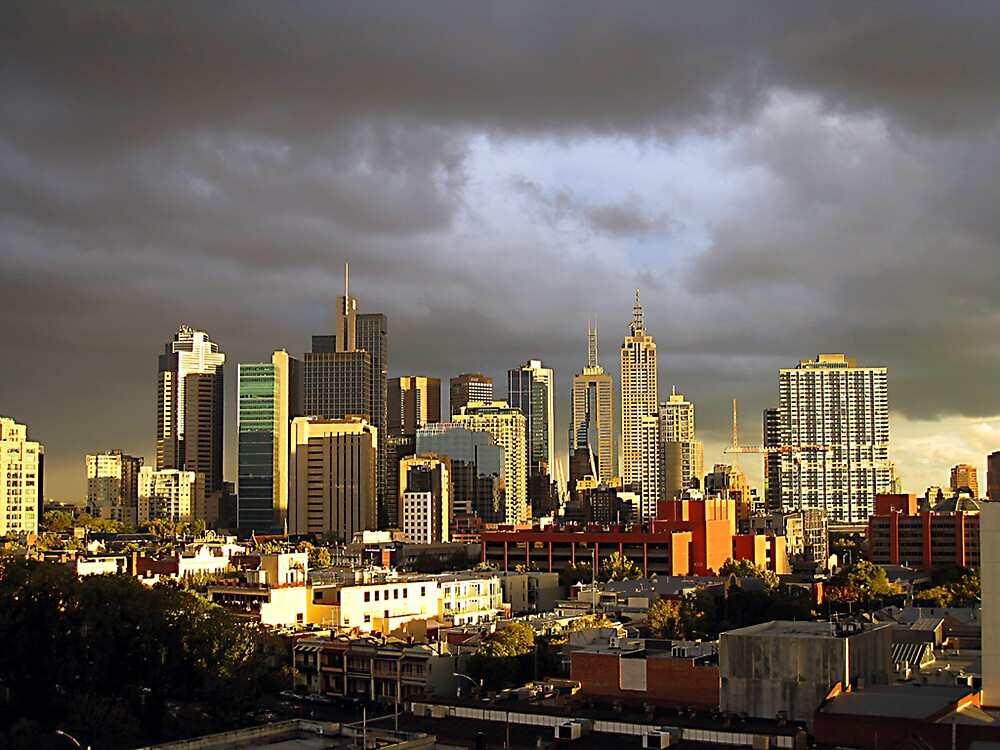 Melbourne Sunset by Marcia Luly