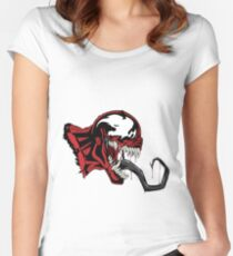Carnage White Art Women's Fitted Scoop T-Shirt