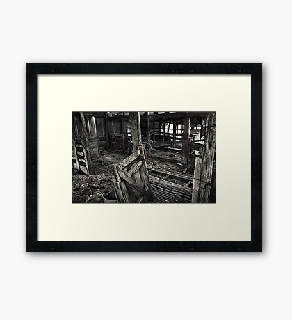 Wool Shed II Framed Print